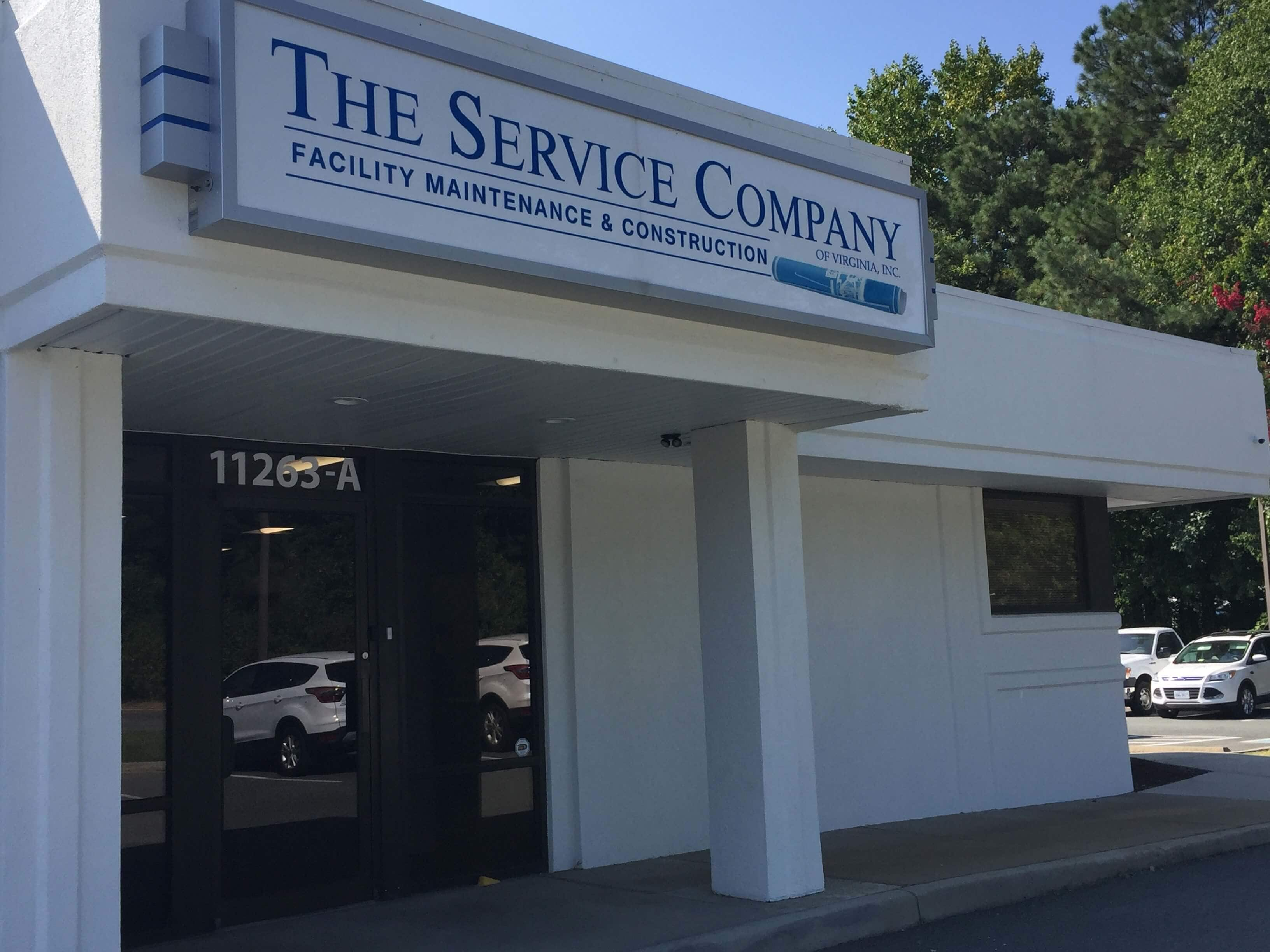 The Service Company Sign